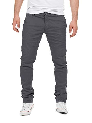 Yazubi Chino Hosen für Herren - Modell Dustin by Yzb Jeans Slim fit - Graue Chinohose Casual mit Stretch, Grau (Magnet 4R193901), W32/L34
