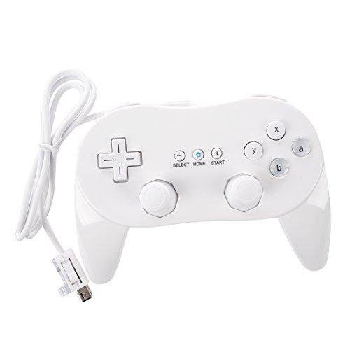 REFURBISHHOUSE Mando Controlador para Nintendo Wii Clasico Juego Cable Consola Blanco