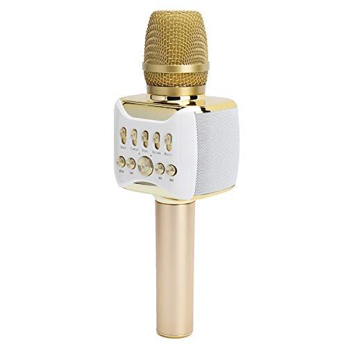 Bindpo Karaoke-Mikrofon, 2-in-1-Mikrofon-Lautsprecher Drahtloses Bluetooth-Kondensatormikrofon Tragbares Handheld-Heim-Karaoke-Mikrofon, zum Singen/Sammeln von Freunden/Aufnehmen/Geburtstagsgeschenk