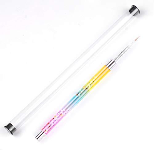 Anself Nail Art Liner Brushes Nail Line Pen Nail Art DIY Dessin Peinture Fleur Liner Nail Gel Brush, avec Mode Poignée en Brillant
