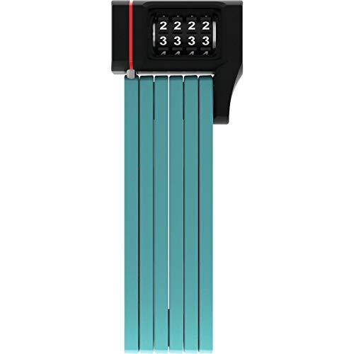 ABUS Faltschloss Bordo uGrip 5700/80C mit Halterung - Fahrradschloss mit 5 mm starken Stäben - ABUS-Sicherheitslevel 7 - 80 cm - Core Grün
