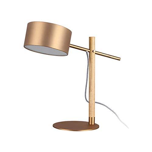 Lámpara Escritorio Lámpara de mesita de noche de dormitorio con cubierta de barril de metal simple dise?o de personalidad elegante sala de estar estudio lámpara de mesa cálida 46.5 * 47.5 cm