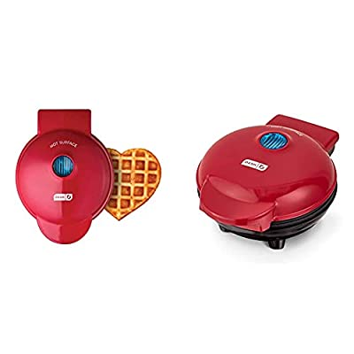DASH Mini Waffle Maker Machine for Individuals, Paninis, Hash Browns, & Other On the Go Breakfast, Lunch, or Snacks, with Easy to Clean, Non-Stick Sides