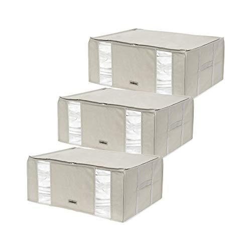 Compactor Set de 3 Bolsas de almacenamiento al vacío , semi-rígida, ahorra espacio, Tamaño XXL- 210 litros, Gama LIFE 2, 0, Color beige, RAN8790