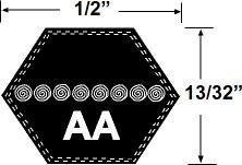 AA112 Hexagonal Tondeuse Courroie D'entraînement