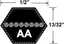 Courroie dentée Tondeuse de gazon héxagonale AA120