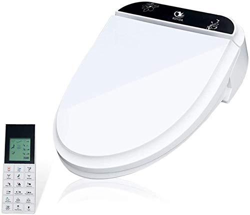 Dsnmm Smart Bidet WC-bril langwerpige softclose, P01 elektrische digitale close deksel met automatische verwarming op afstand en warme wind blowing Dry RVS sproeireiniging toiletdeksel hout