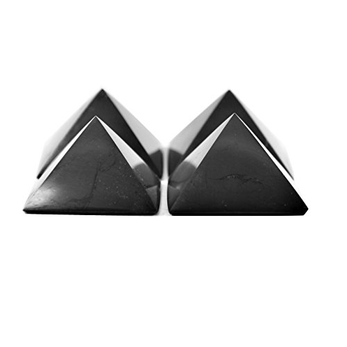 Karelian Heritage Regular Shungite Pyramid Set for EMF Protection, 4 Pieces at The Price of 3, S042