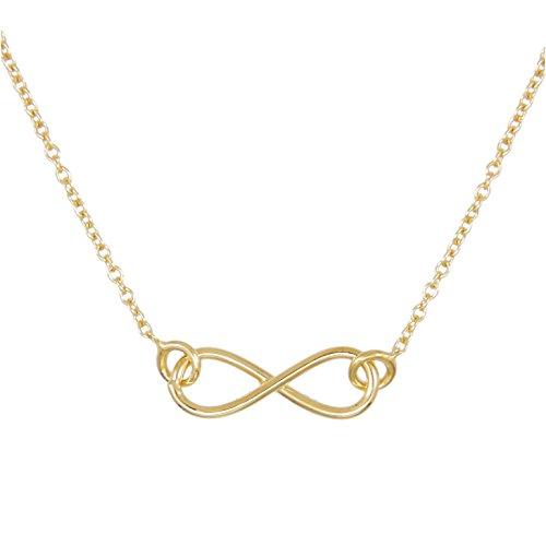 Damen-Halskette Gelbgold Unendlichkeit