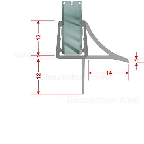 Duschdichtung Schwallschutz stabilisiert Streifdichtung Ersatzdichtung 90 cm für eine Glasstärke von 4/5/6/8 mm