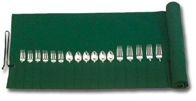 Wickeltasche (leer) für 30 Teile dunkelgrün/dunkelgrün Albec
