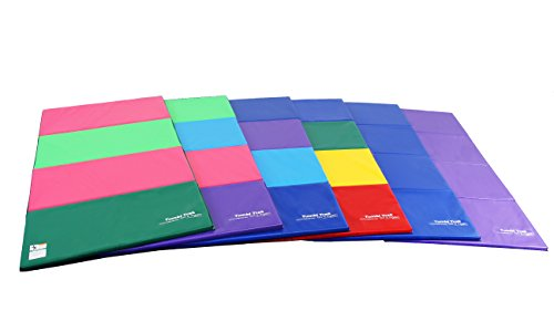 Tumbl Trak Gymnastics Folding Tumbling Panel Mat, 4ft x 8ft x 1-3/8in, Blueberry