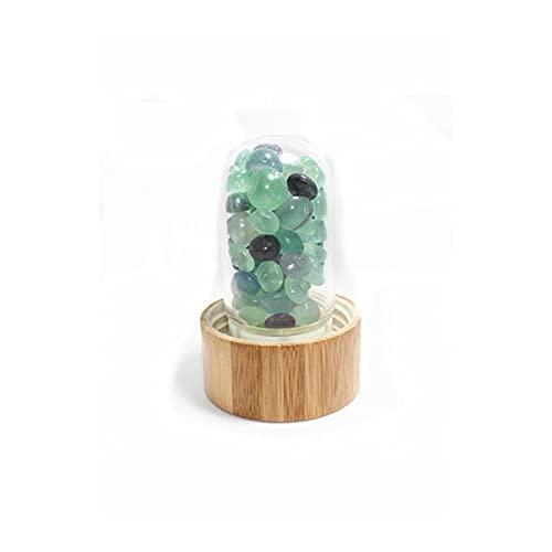 LULIJP Kristallquarz Flasche Kristall Energie Becher Edelstein Kristall Flasche Glas Wasserflasche Handwerk Geschenke (Color : Green Fluorite, Size : One Size)