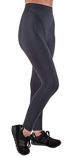 CzSalus Figurformende Anti-Cellulite Lange Hose (Leggings) mit Massageeffekt - Graphitgrau Größe L