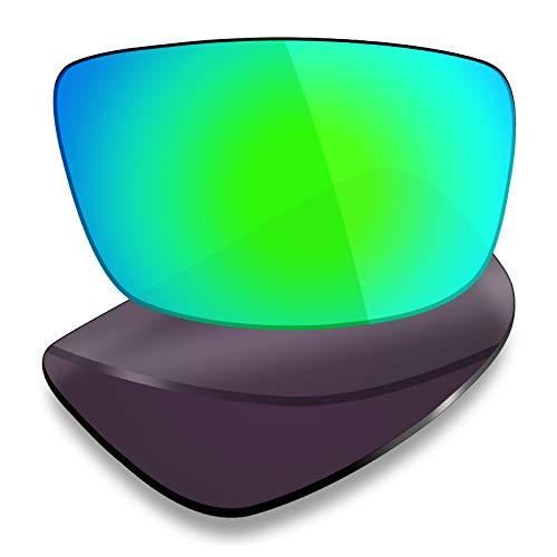 Mryok Lentes de repuesto para Spy Optic Logan - Opciones, Polarizado - Verde esmeralda, Talla única