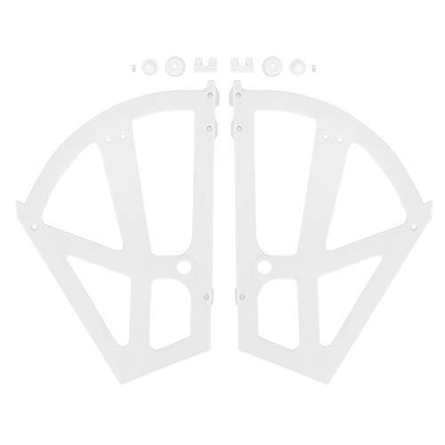 Tabpole Inicio Plástico hueco de dos capas para zapatero estante estante soporte bisagras accesorio (blanco)