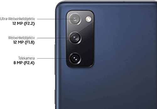 Samsung Galaxy S20 FE, Android Smartphone ohne Vertrag, 6,5 Zoll Super AMOLED Display, 4.500 mAh Akku, 256 GB/ 8 GB RAM, Handy in Cloud Navy inkl 36 Monate Herstellergarantie [Exklusiv bei Amazon]