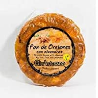 Pan de orejones con almendras - 200 g - Marca El Artesano - Dulce típico tradicional navideño - Calidad Suprema