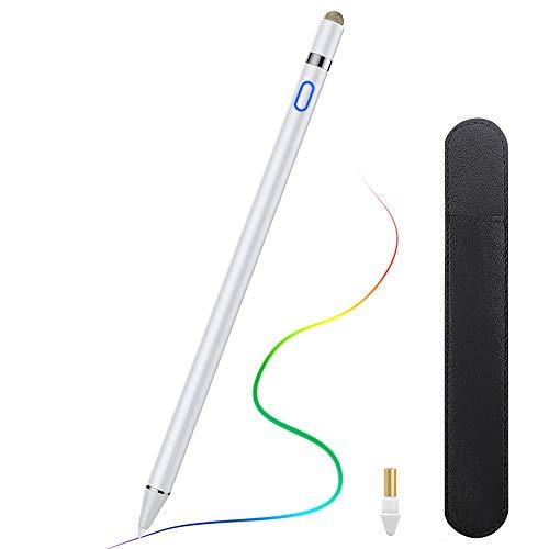 "TiMOVO Stylus per iPad, 2-in-1 Penna Digitale Alta Precisione Palm Rejection, iPad Pencil per iPad PRO 2020, iPad 8a Gen, iPad 7/6, iPad Air 4/3, iPad Mini 5, iPad PRO 12.9"" (3a Gen) / 11"" - Bianca"