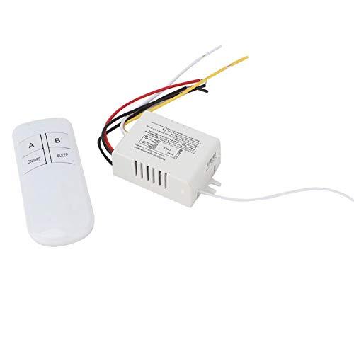 Interruptor remoto inalámbrico de pared, transmisor receptor de interruptor remoto de pared, lámpara Accesorios de luz de repuesto de 2 vías Fácil de instalar para control remoto