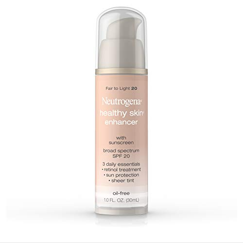 Neutrogena Healthy Skin Enhancer Sheer Face Tint with Retinol & Broad Spectrum SPF 20 - Fair To Light