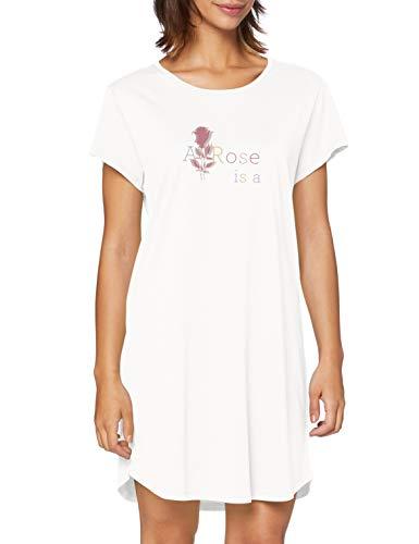 Triumph Damen Nightdresses NDK 01 Nachthemd, SILK WHITE, 38