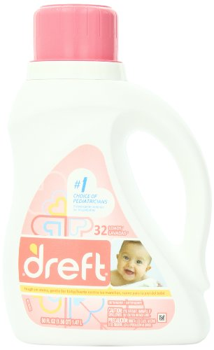 Dreft Liquid Laundry Detergent, 50 oz, 32 loads (Pack of 2)