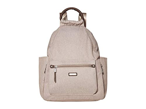 Baggallini Women's New Classic Day Backpack with RFID Phone Wristlet, Sand Heritage, One Size