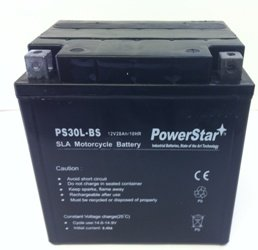 PowerStar replacement battery for UIX30L Power Sport AGM Series Sealed AGM Battery