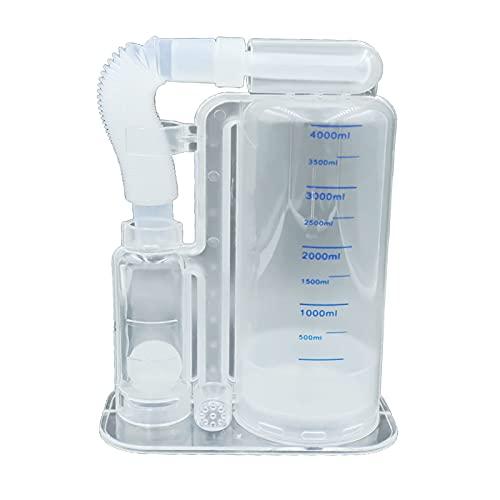 sharprepublic Traisor de Respiración de 4000ml Espirómetro Respiratorio para Entrenamiento de Aliento Profundo