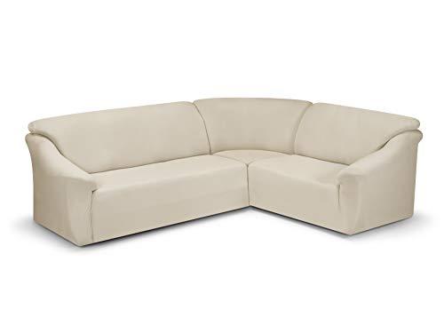 Dohle + Menk Miriam Housse de canapé d'angle, Coton, Naturel