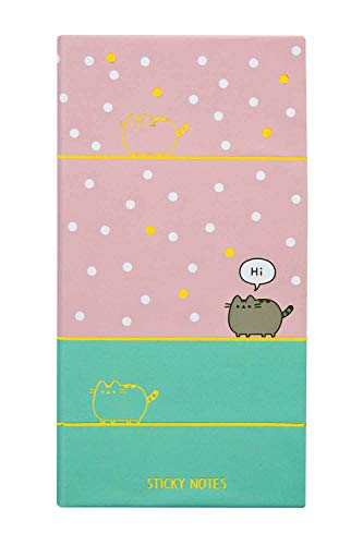 Undercover PUSH0777 Hardcover Book with 7 Sticky Note Pads, Pusheen Design, Approx. 16.8 x 9 x 2 cm, Practical Organiser for Learning, Work and Leisure