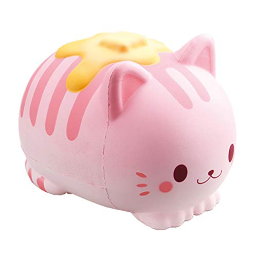 iBloom Nyan Pancake Cat Cute Slow Rising Jumbo Squishy Toy, Pillow (Pink, Strawberry Scented, 5.9 Inch) [Kawaii Squishies for Party Favors, Stress Balls, Birthday Gifts for Kids, Girls, Boys, Adults]