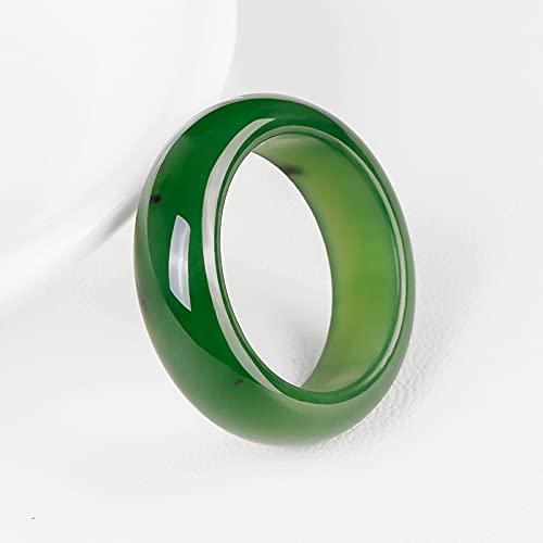 CYXY Anillo de Jade de Jade Natural de Hetian Certificado Gratuito de Anillo de Jade Genuino,19MM