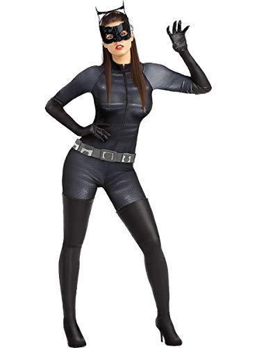 Funidelia | Disfraz de Catwoman Oficial para Mujer Talla M  Mujer Gato, Superhéroes, DC Comics, Villanos - Color: Negro - Licencia: 100% Oficial - Divertidos Disfraces y complementos
