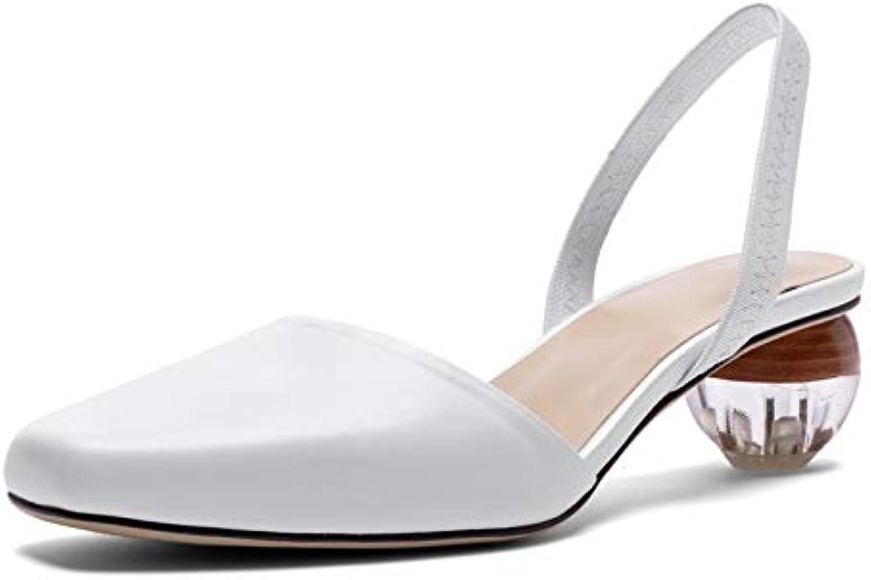 MENGLTX High Heels Sandalen 2019 Frauen Leder High Heels Prom Party Hochzeit Pumpt Sommer Schuhe Frau Seltsamen Stil Heels Sandalen
