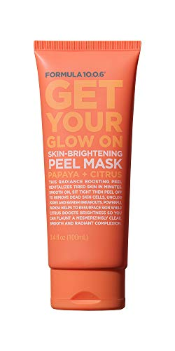 Formula 10.0.6 Get Your Glow On Skin-Brightening Peel Mask (3.4 Fl. Oz.) Exfoliating Face Mask that Unclogs Pores & Reduces Breakouts - Vegan, Paraben-Free, Sulfate-Free & Cruelty-Free