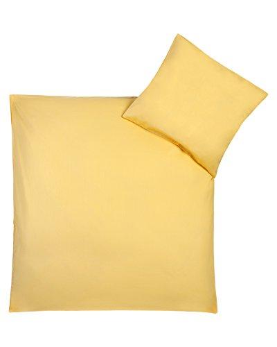 Julius Zöllner Parure de lit - Taille: 100 x 135 cm / 40 x 60 cm, Couleur: jaune
