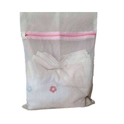 Winkey Waschen Tasche Mesh, Unterwäsche Hilfe BH Socken Dessous Waschmaschine Mesh Tasche, Nylon, weiß, M