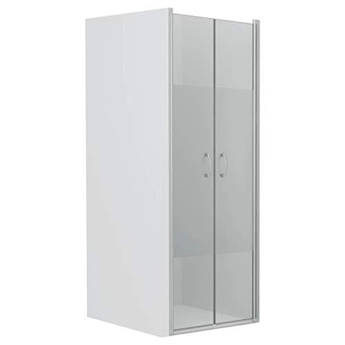vidaXL Duschtür Duschabtrennung Duschkabine Duschwand Nischentür Glastür Dusche Tür Halbmatt ESG 5 mm Sicherheitsglas 85x185 cm Verstellbereich von 83-86 cm