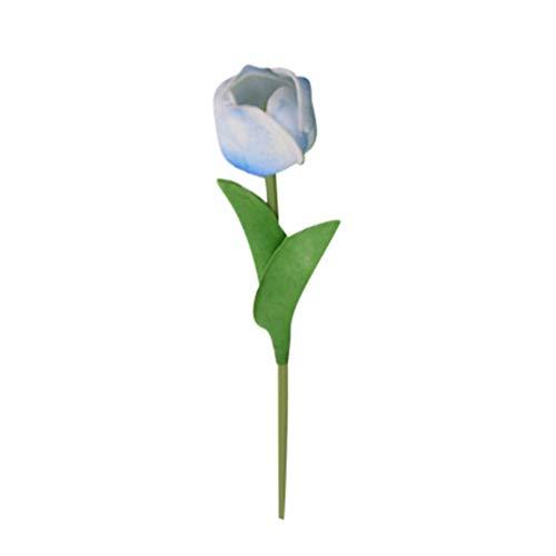 Dooxii Tulipán Falsa Planta Flores Artificiales Decoración para Hogar Fiesta de Boda de Jardín