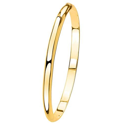 Lucardi - 925 Silber Armreif, vergoldet - für Damen - Gold