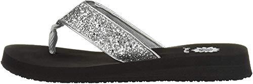 Yellow Box Women's Feliks Sandal, Silver, 8.5 M US