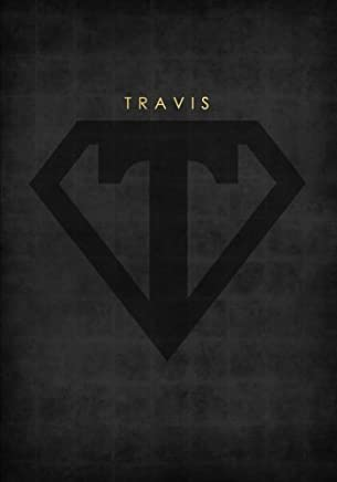 Personalized Name Book for Travis with Superhero Logo (7x10 Notebook with Lined Pages): A Cool And Motivational Journal/Composition Book To Write In For Guys