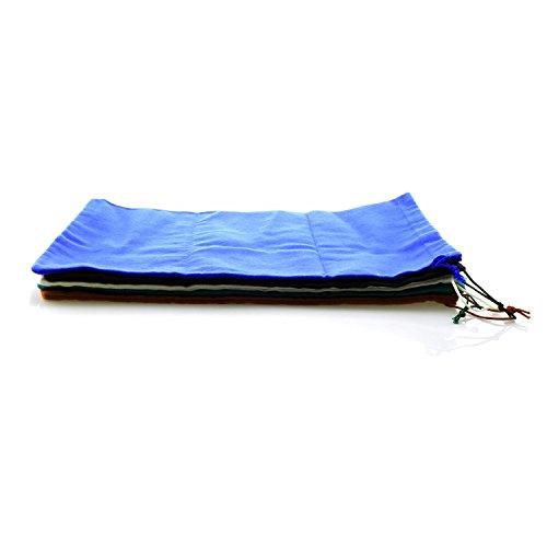 TelMo Schuhbeutel aus Baumwolle mit Zugband 37x27cm in Blau