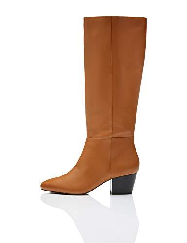 find. Leather Overknees, Beige Tan), 41 EU