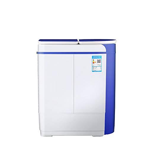 NEHARO Mini Lavadora Mini Lavadora Doble bañera bebé hogar semiautomático para Dormitorio Individual (Color : Blue, Size : 55x33x66cm)