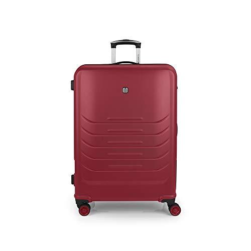 Gabol - Vasili | Maleta de Viaje Grande Rigida de 52 x 77 x 30 cm con Capacidad para 110 L de Color Rojo