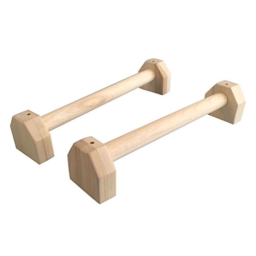 commercial Boomprospect for hand gymnastics Wooden handstand, wooden paralet, H-shaped stand for push-ups with two sticks, … parallettes or push up