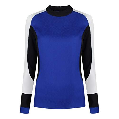 TRUSSARDI JEANS by Trussardi Damen Hemd Crepe Block Color, Blu (Bluette /porcelain/Blac), 40